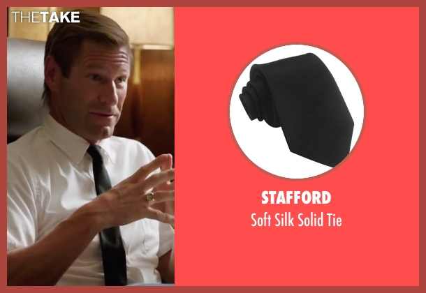 Stafford black tie from My All American seen with Aaron Eckhart (Darrell Royal)