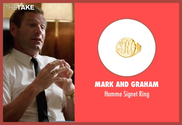 Mark And Graham gold ring from My All American seen with Aaron Eckhart (Darrell Royal)