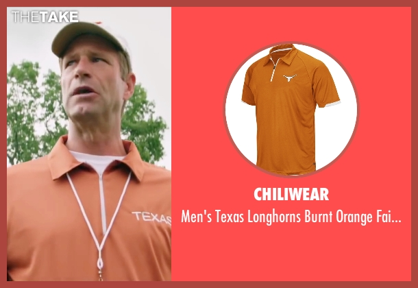 Chiliwear orange shirt from My All American seen with Aaron Eckhart (Darrell Royal)