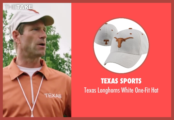 Texas Sports white hat from My All American seen with Aaron Eckhart (Darrell Royal)