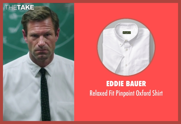 Eddie Bauer white shirt from My All American seen with Aaron Eckhart (Darrell Royal)