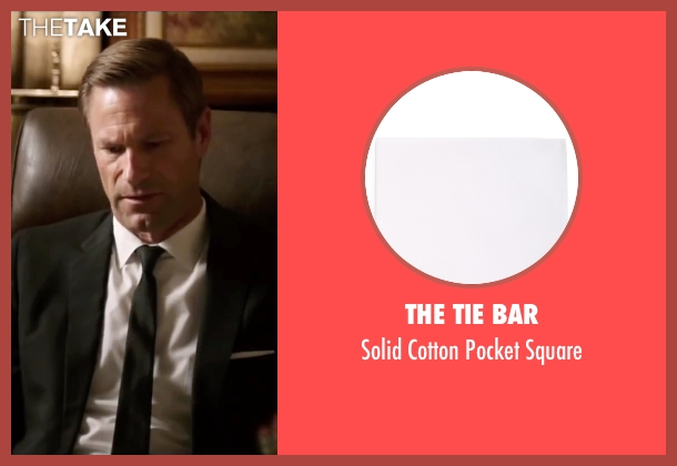The Tie Bar white square from My All American seen with Aaron Eckhart (Darrell Royal)