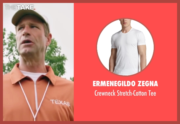 Ermenegildo Zegna	 white tee from My All American seen with Aaron Eckhart (Darrell Royal)