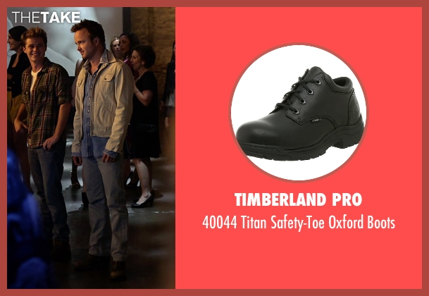 Timberland Pro black boots from Need for Speed seen with Aaron Paul (Tobey Marshall)
