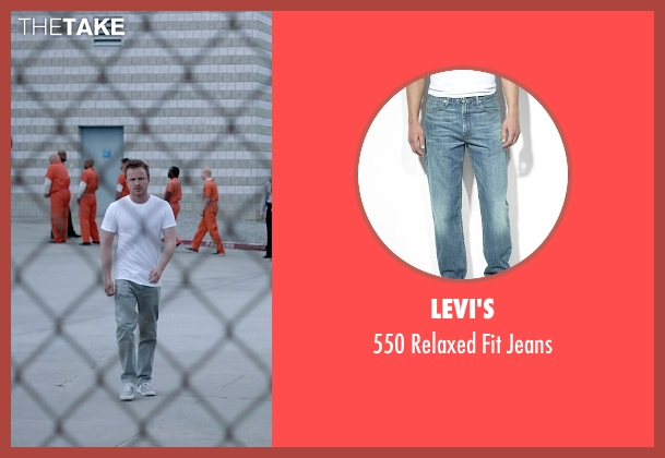Levi's blue jeans from Need for Speed seen with Aaron Paul (Tobey Marshall)