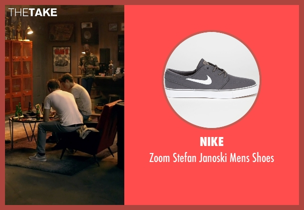 Nike gray shoes from Need for Speed seen with Aaron Paul (Tobey Marshall)