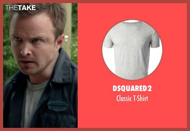 Dsquared2 gray t-shirt from Need for Speed seen with Aaron Paul (Tobey Marshall)