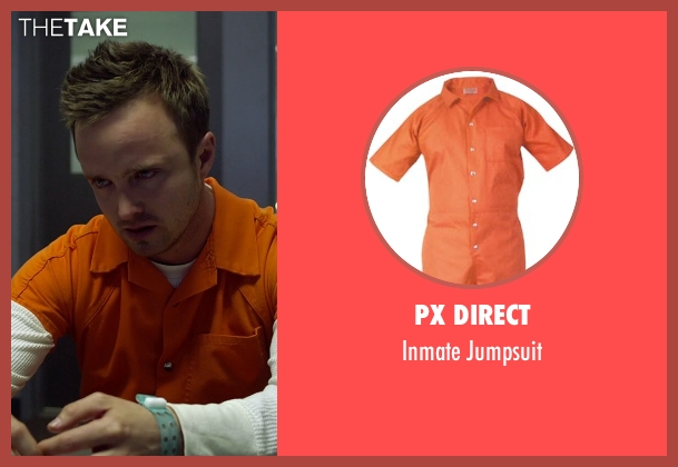 PX Direct orange jumpsuit from Need for Speed seen with Aaron Paul (Tobey Marshall)