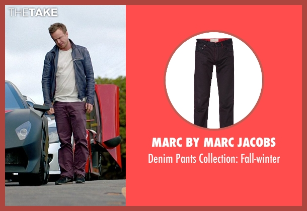 Marc By Marc Jacobs purple fall-winter from Need for Speed seen with Aaron Paul (Tobey Marshall)