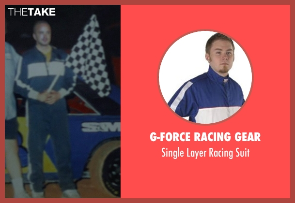 G-Force Racing Gear suit from Need for Speed seen with Aaron Paul (Tobey Marshall)