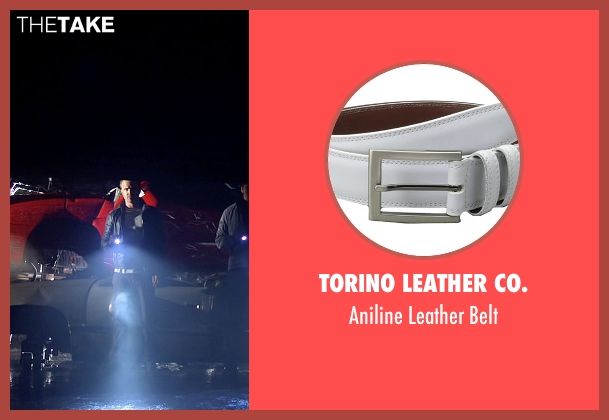 Torino Leather Co. white belt from Need for Speed seen with Aaron Paul (Tobey Marshall)