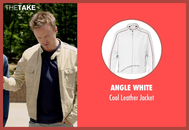 Angle White white jacket from Need for Speed seen with Aaron Paul (Tobey Marshall)