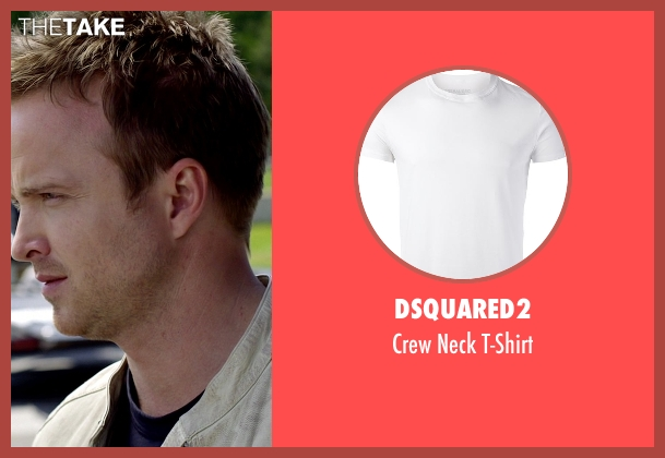 Dsquared2 white t-shirt from Need for Speed seen with Ramon Rodriguez (Joe Peck)