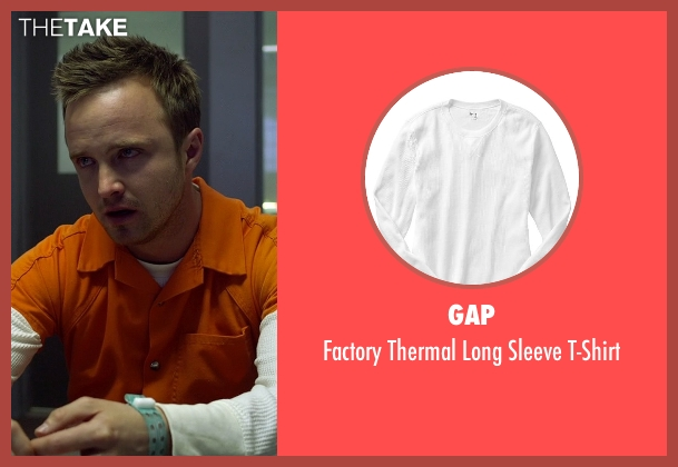 Gap white t-shirt from Need for Speed seen with Aaron Paul (Tobey Marshall)