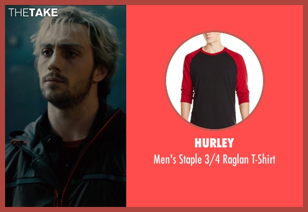 Hurley t-shirt from Avengers: Age of Ultron seen with Aaron Taylor-Johnson (Pietro Maximoff / Quicksilver)