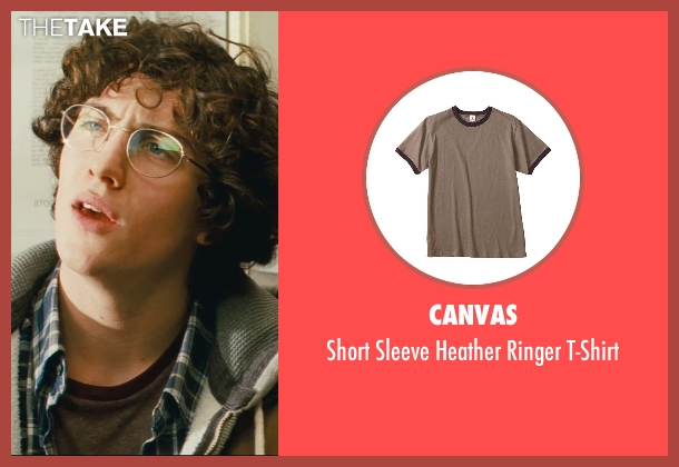 Canvas brown t-shirt from Kick-Ass seen with Aaron Taylor-Johnson (Dave Lizewski / Kick-Ass)