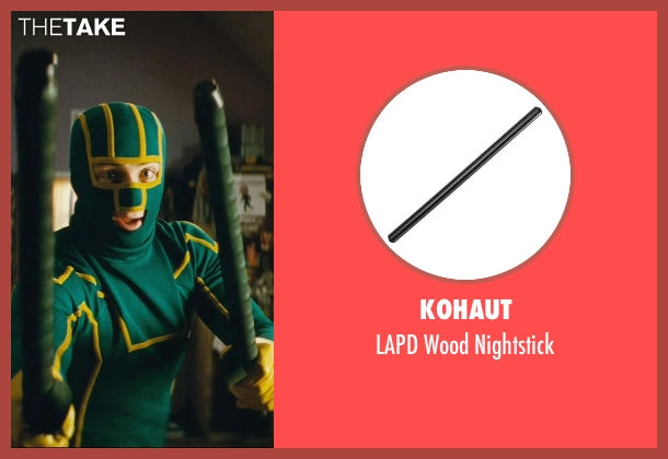 Kohaut nightstick from Kick-Ass seen with Aaron Taylor-Johnson (Dave Lizewski / Kick-Ass)