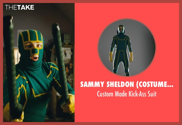 Sammy Sheldon (Costume Designer) suit from Kick-Ass seen with Aaron Taylor-Johnson (Dave Lizewski / Kick-Ass)