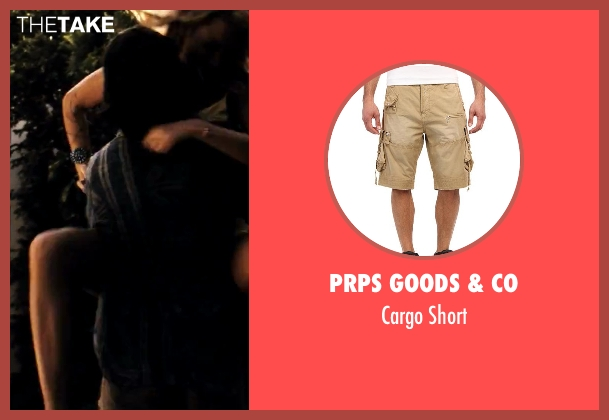 Prps Goods & Co beige short from Savages seen with Aaron Taylor-Johnson (Ben)
