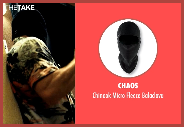 Chaos black balaclava from Savages seen with Aaron Taylor-Johnson (Ben)