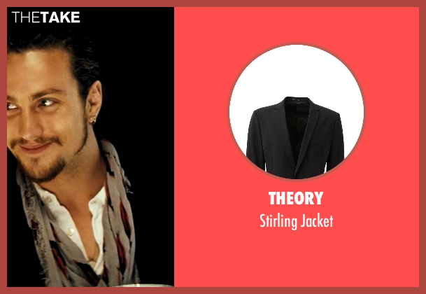 Theory black jacket from Savages seen with Aaron Taylor-Johnson (Ben)