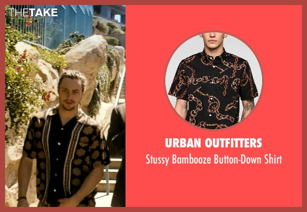 Urban Outfitters black shirt from Savages seen with Aaron Taylor-Johnson (Ben)