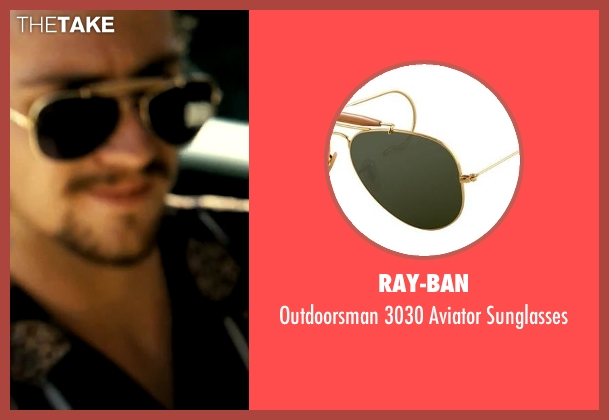 Ray-Ban black sunglasses from Savages seen with Aaron Taylor-Johnson (Ben)