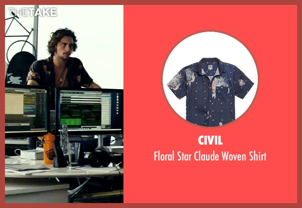 Civil blue shirt from Savages seen with Aaron Taylor-Johnson (Ben)