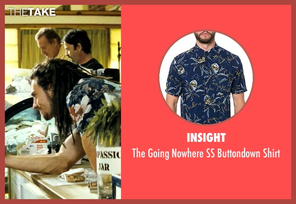 Insight blue shirt from Savages seen with Aaron Taylor-Johnson (Ben)