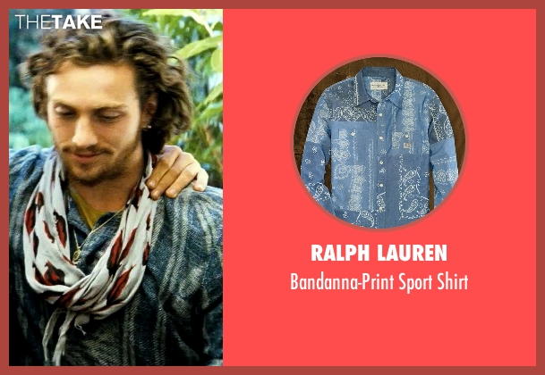 Ralph Lauren blue shirt from Savages seen with Aaron Taylor-Johnson (Ben)