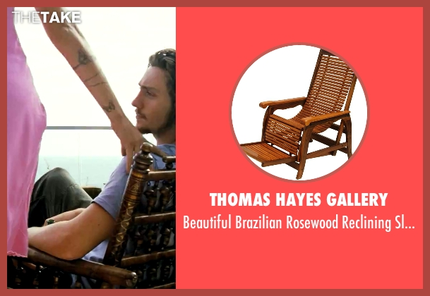 Thomas Hayes Gallery chair from Savages seen with Aaron Taylor-Johnson (Ben)
