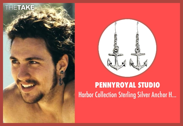 Pennyroyal Studio earrings from Savages seen with Aaron Taylor-Johnson (Ben)