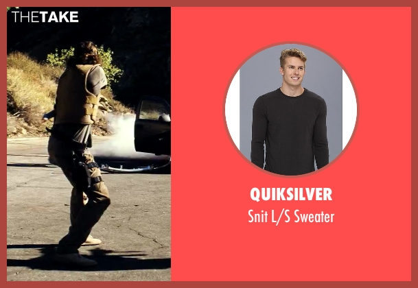 Quiksilver gray sweater from Savages seen with Aaron Taylor-Johnson (Ben)