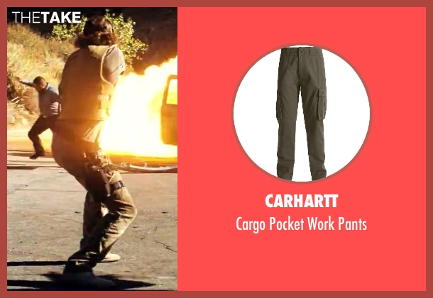 Carhartt green pants from Savages seen with Aaron Taylor-Johnson (Ben)
