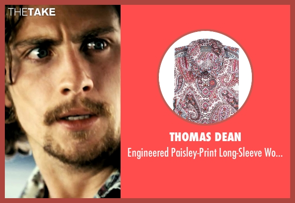 Thomas Dean red shirt from Savages seen with Aaron Taylor-Johnson (Ben)