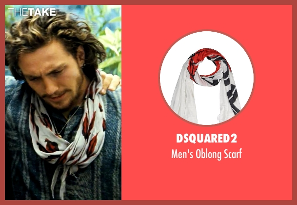 Dsquared2 scarf from Savages seen with Aaron Taylor-Johnson (Ben)