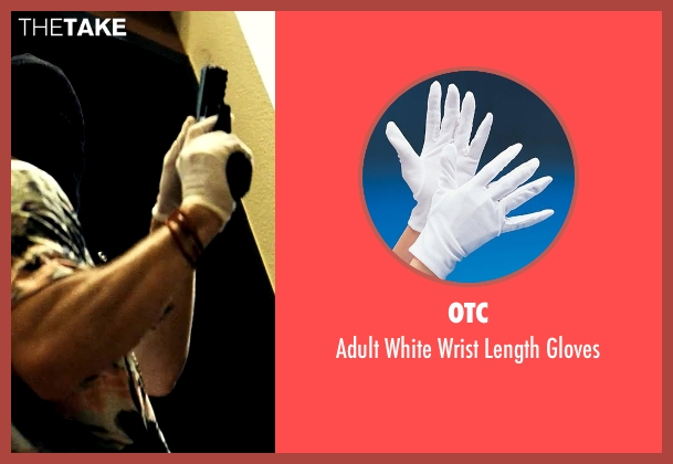 OTC white gloves from Savages seen with Aaron Taylor-Johnson (Ben)