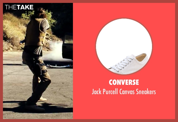 Converse white sneakers from Savages seen with Aaron Taylor-Johnson (Ben)