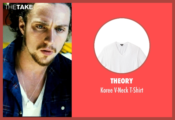Theory white t-shirt from Savages seen with Aaron Taylor-Johnson (Ben)
