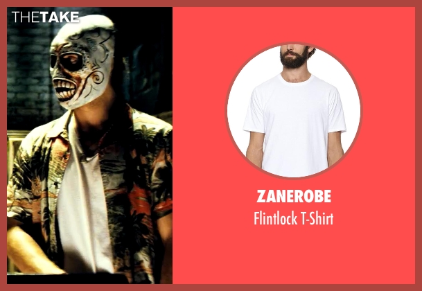 Zanerobe white t-shirt from Savages seen with Aaron Taylor-Johnson (Ben)