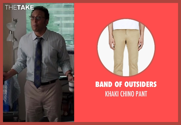 BAND OF OUTSIDERS beige pant from Million Dollar Arm seen with Aasif Mandvi (Aash)