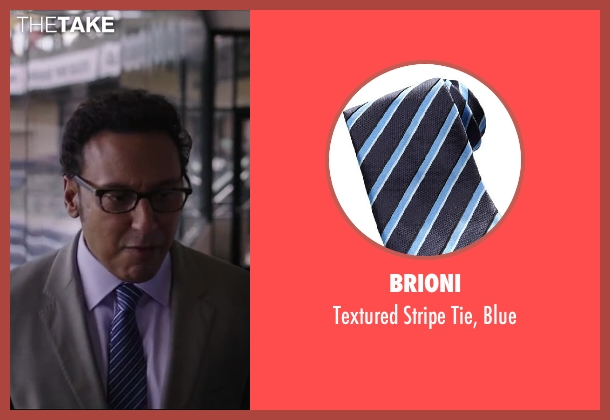 Brioni blue blue from Million Dollar Arm seen with Aasif Mandvi (Aash)