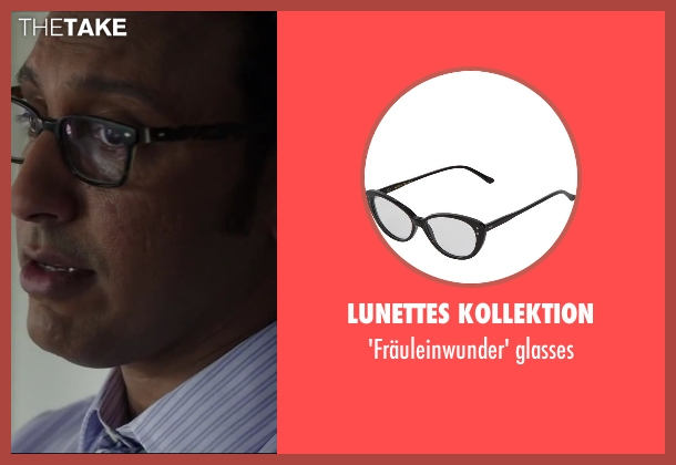LUNETTES KOLLEKTION glasses from Million Dollar Arm seen with Aasif Mandvi (Aash)