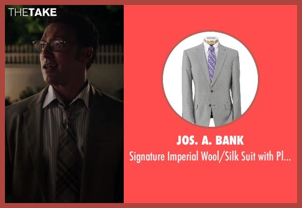 Jos. A. Bank gray trousers from Million Dollar Arm seen with Aasif Mandvi (Aash)