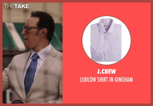 J.Crew purple gingham from Million Dollar Arm seen with Aasif Mandvi (Aash)