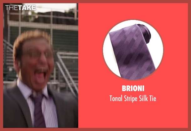Brioni purple tie from Million Dollar Arm seen with Aasif Mandvi (Aash)