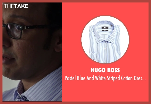 HUGO BOSS white shirt from Million Dollar Arm seen with Aasif Mandvi (Aash)