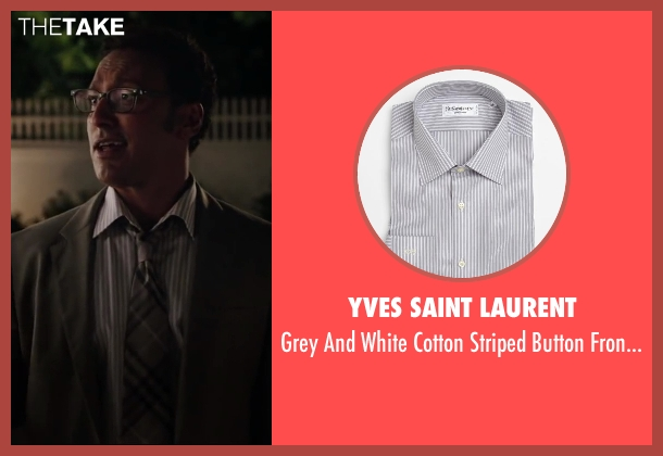 YVES SAINT LAURENT white shirt from Million Dollar Arm seen with Aasif Mandvi (Aash)