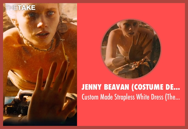 Jenny Beavan (Costume Designer) white dress from Mad Max: Fury Road seen with Abbey Lee (The Dag)