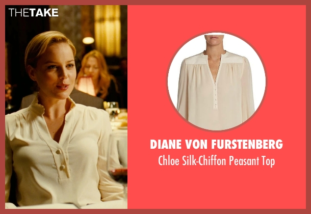 Diane Von Furstenberg beige top from Limitless seen with Abbie Cornish (Lindy)